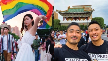 Taiwanese LGBTQ+ people celebrating Pride