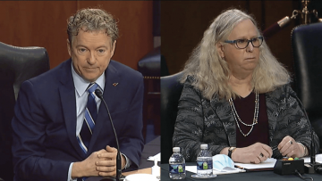 Rand Paul and Rachel Levine