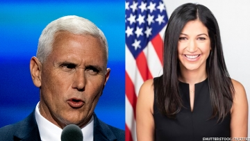 Mike Pence and Katie Miller