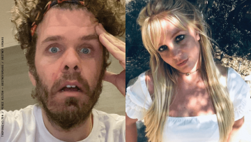 Perez Hilton and Britney Spears