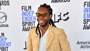 Jeremy O. Harris in front of red carpet