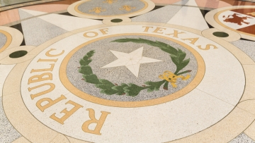 Floor of state capitol in Texas