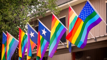 rainbow flags in texas
