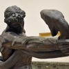 An Athlete Wrestling With a Python, 1888, bronze, detail