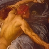 Hercules Wrestling with Death for the Body of Alcestis, 1870, detail