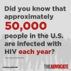 Day 6: 50,000 People a Year are Infected with HIV