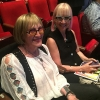 Transgender feminist and 'I Am Cait' star Kate Bornstein with her girlfriend, Barbara Carrellas, in the audience at the Lammys.