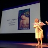 Diana Cage and Joel Kim Booster cheer nominees in the gay erotica category.