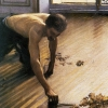 Gustave Caillebotte, The Floor Scrapers, 1875, detail