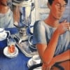 At the Samovar (after Petrov Vodkin), 2013