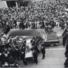 Black Panthers carry George Jackson's coffin into St. Augustine's Church