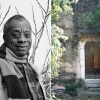 Above left: American writer James Baldwin is photographed at his Saint Paul De Vence house on the French Riviera, March 15, 1983. Right: The front door at Chez Baldwin. Read more below.