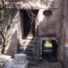 Passageway from the front of the house to the back and the study.