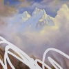 The Most Beautiful Place Is Far From Here (Rocky Mountain Scene, White House Art Collection Erasure No. 16), detail