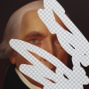 Moderation On One Side, Prudence On The Other (James Madison, White House Art Collection Erasure No. 9), detail