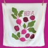 Adorably kitschy Handprinted With Love Tea Towels like Beet It. ($18, TheNeighborgoods.com)