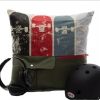The cool gender- neutral Mimish Storage Pillows fit remotes, devices, note pads, or extra clothing. ($55, MimishDesigns.com)