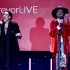 Mj Rodriguez (L) and Billy Porter