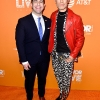 The Trevor Project CEO & Executive Director Amit Paley (L) and Eugene Lee Yang