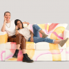 Jena & Veronica model the Lesbian Flag Couch
