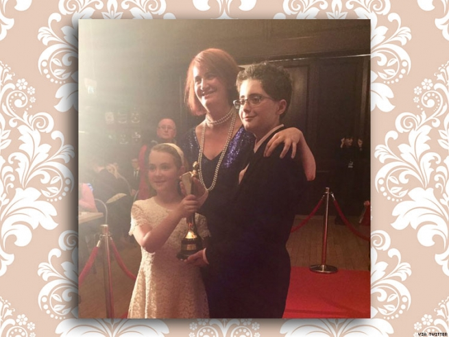 Emma Donoghue With Una and Finn