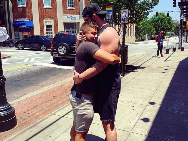 "3. Hugging. Not ""bro"" hugging — warm, nuzzle-in-your-neck hugging."