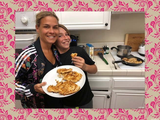 Cat Cora and Family