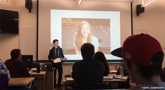 College Student Comes Out as Trans During Presentation