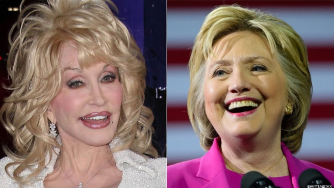 Dolly supports women in power, including Hillary.