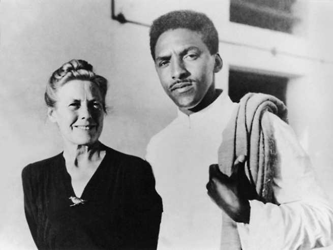 Rustin with Muriel Lester, International FOR traveling secretary and friend of Gandhi, in India, 1948. Courtesy Fellowship of Reconciliation.