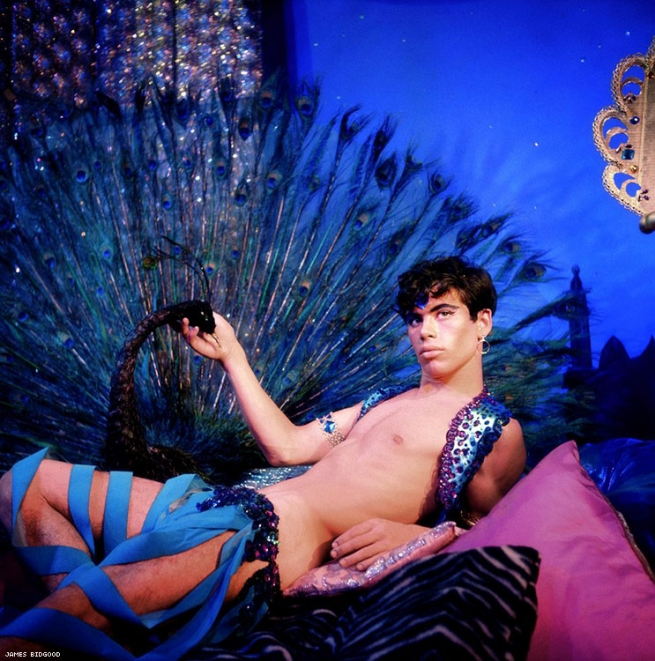 Harem Boy in front of Peacock, Mid-to-late 1960s Digital C-Print Courtesy of ClampArt, New York