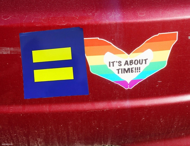9. Flash a gay bumper sticker.