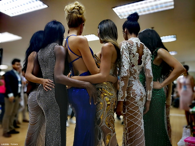Contestants backstage