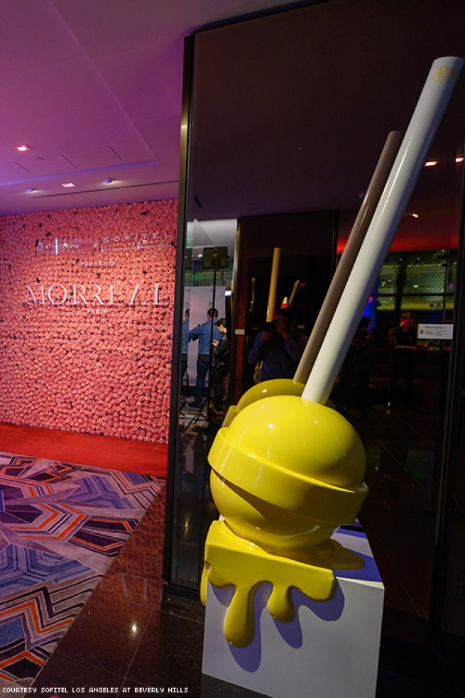 a giant lolipop at Sofitel