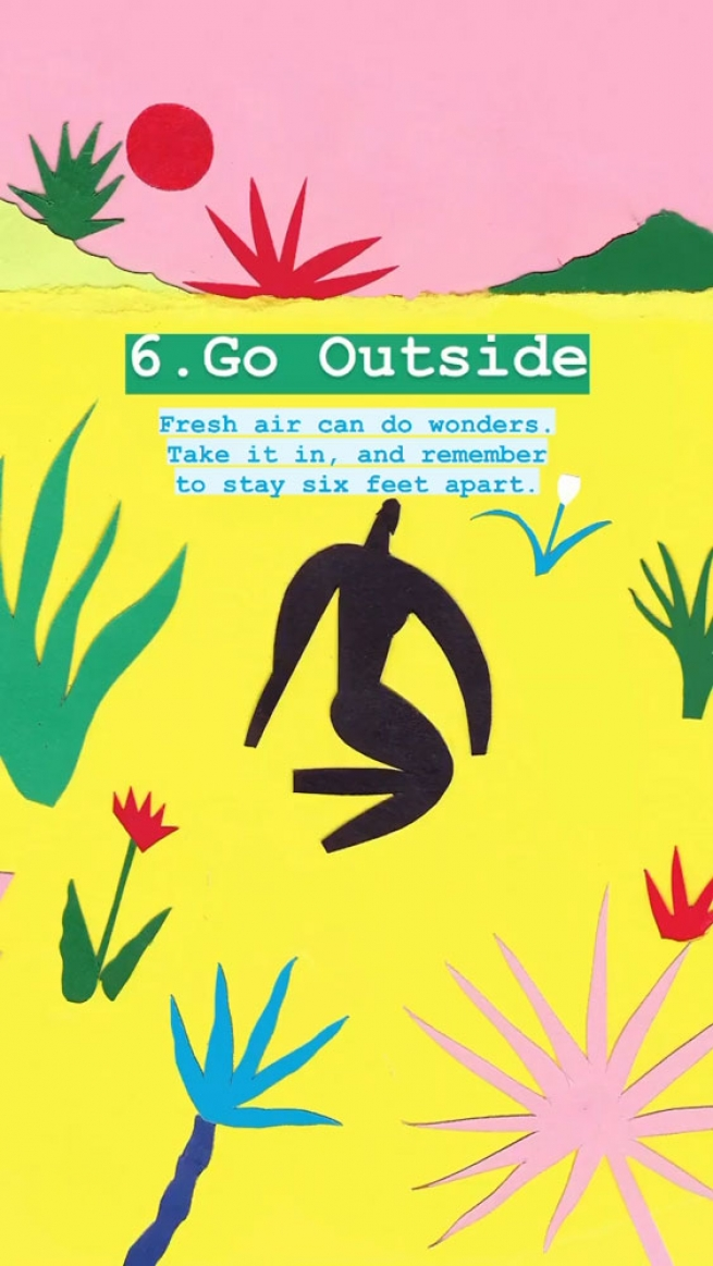 6. Go outside