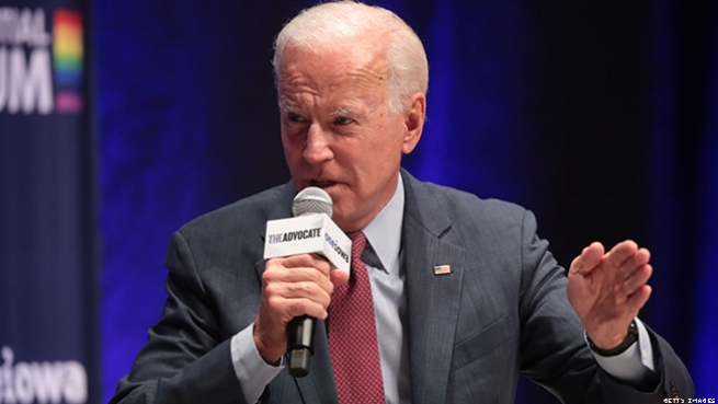 "Joe Biden defends a 1994 crime bill — and gets ""sweetheart"" pushback."