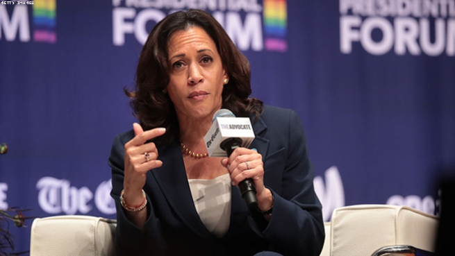 Kamala Harris on denying gender-affirmation surgery to trans inmates in California.