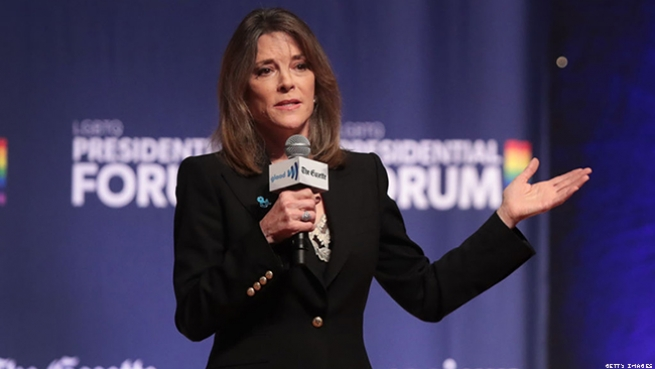 Marianne Williamson defends AIDS record.