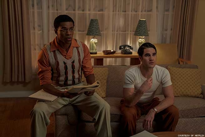 Jeremy Pope as Archie Coleman and Darren Criss as Raymond Ansley