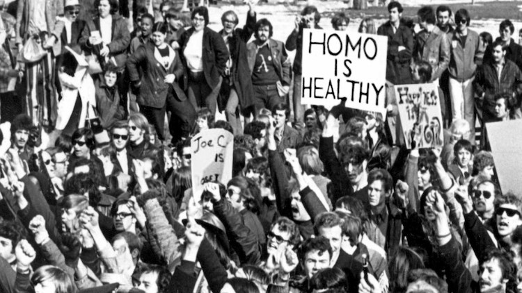 Protesters in 1970s