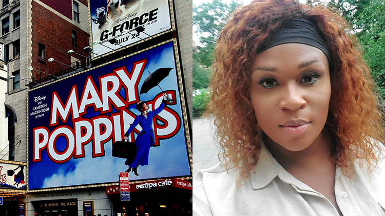 Mary Poppins Musical Poster on Broadway & Peppermint
