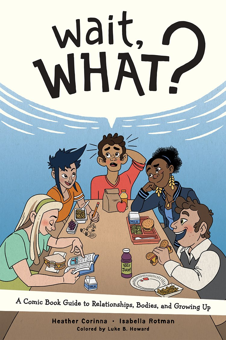Cover of Wait, What? featuring a diverse group of teens