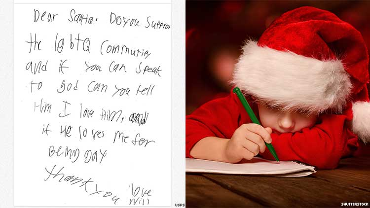 Boy Asks Santa If God 'Loves Me for Being Gay' in Heartbreaking Letter